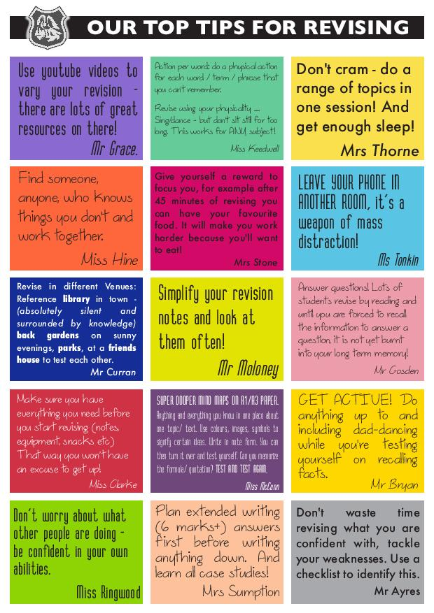 Top Tips for revising-page-001
